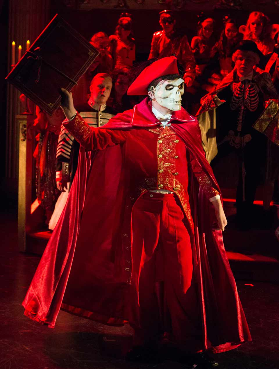 Red Death costume as worn by the Phantom in Phantom of the Opera.