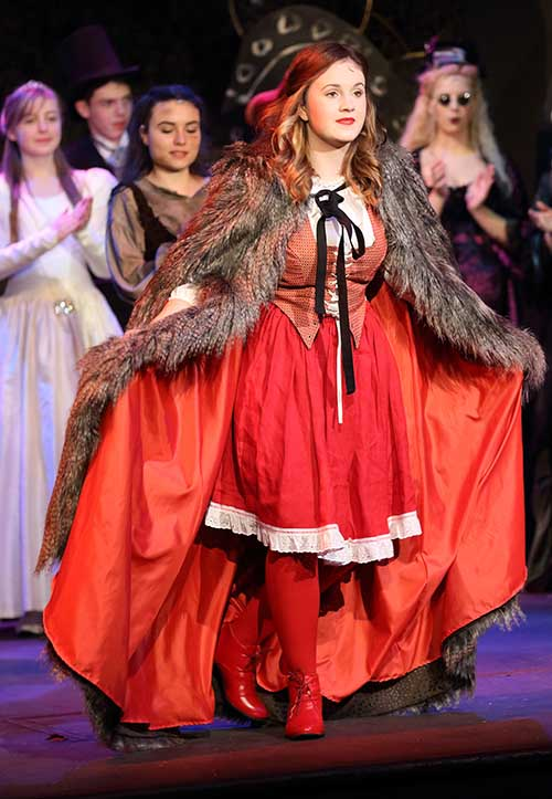 Into the woods - Little Red Riding Hood taking a bow