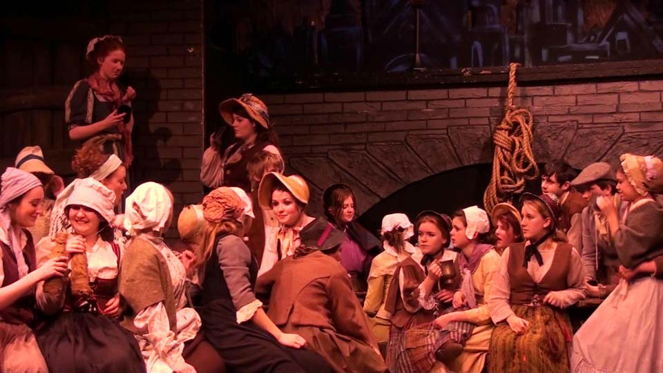 Sweeney Todd Crowd scene period costumes
