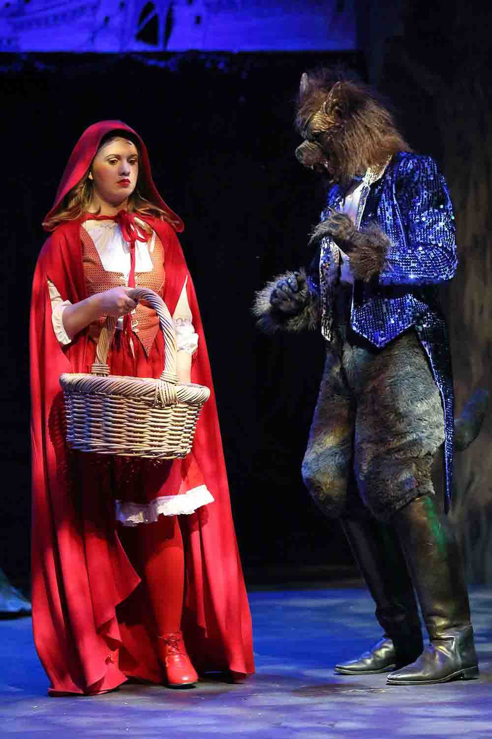 Little Red Riding Hood wolf coat costume. Scene from Into The Woods.