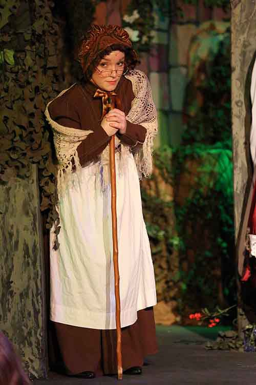 Red Riding Hoods Granny. Scene from Into The Woods