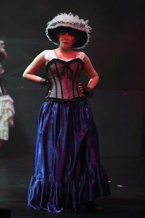 Les Miserables -One of the  Lovely Ladies in a blue corset.
