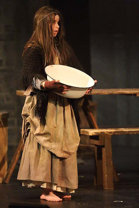 Young Cosette In Rags With Wash Bowl