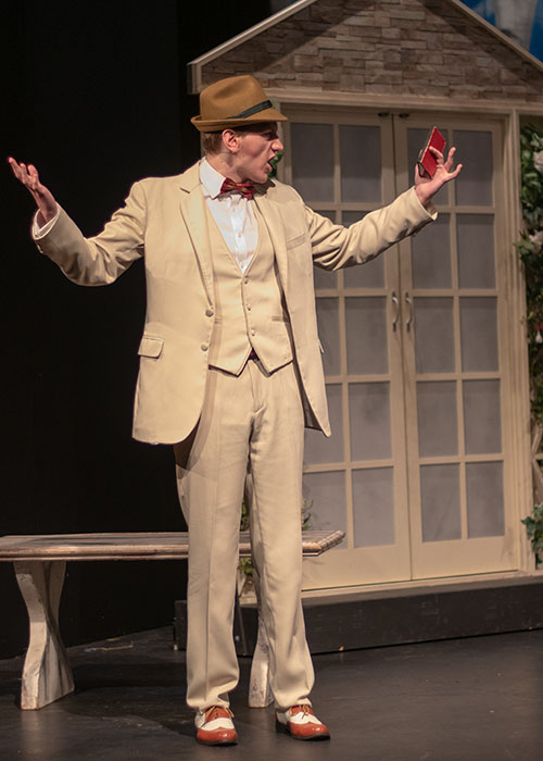 Sound of Music Max Dettweiler Costume, he is wear a light coloured  day suit