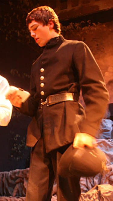 1920 Police uniform. Actor Callum Blake
