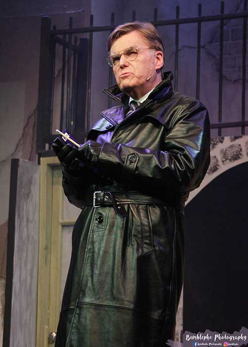1940 Black leather coat Herr Flick Costume Allo Allo