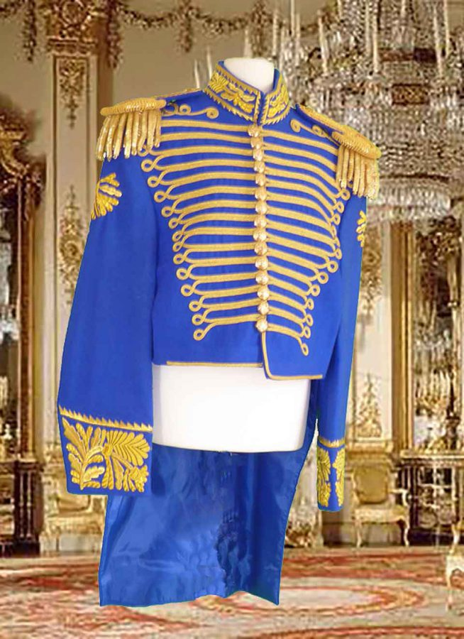 Dark blue and gold prince costume