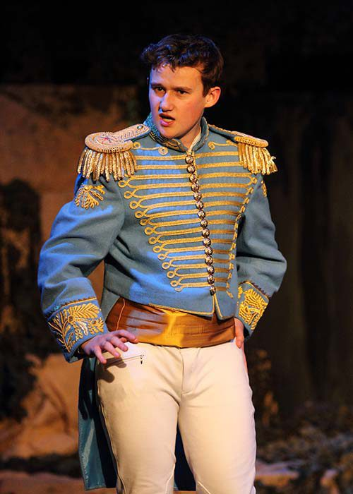 Light blue and gold prince costume